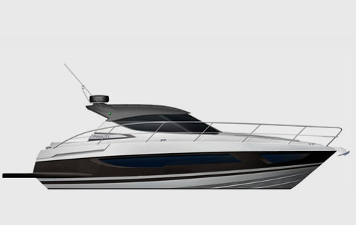 render of motor yacht