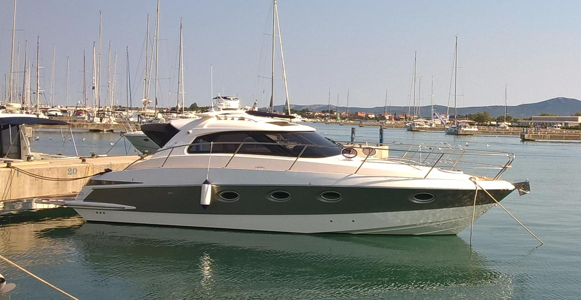 elan power 35, optimus 2, exterior, blue
